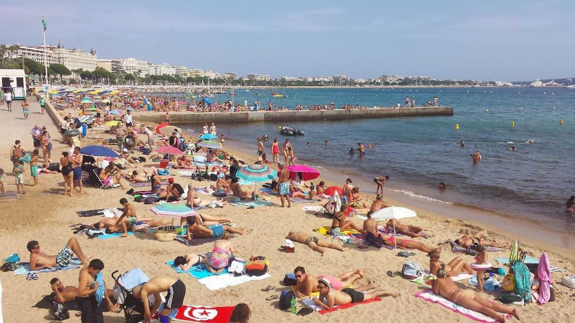 Plaża w Cannes