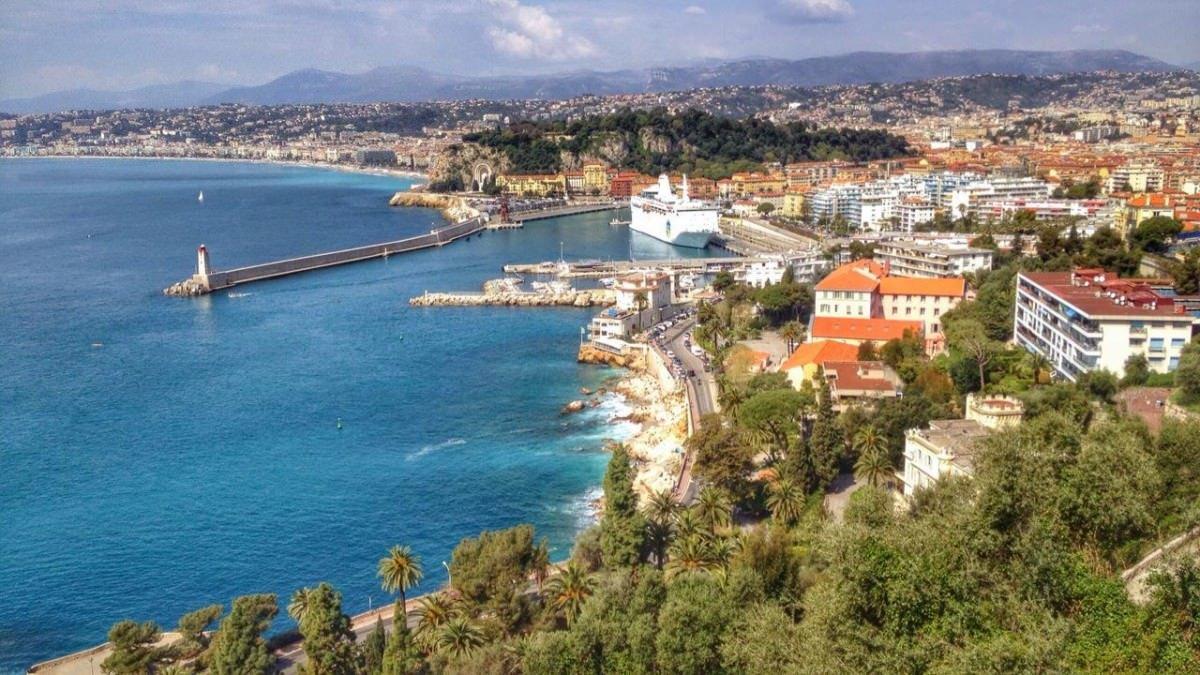 Nicea, Lazurowe Wybrzeże, widok z Mont Boron