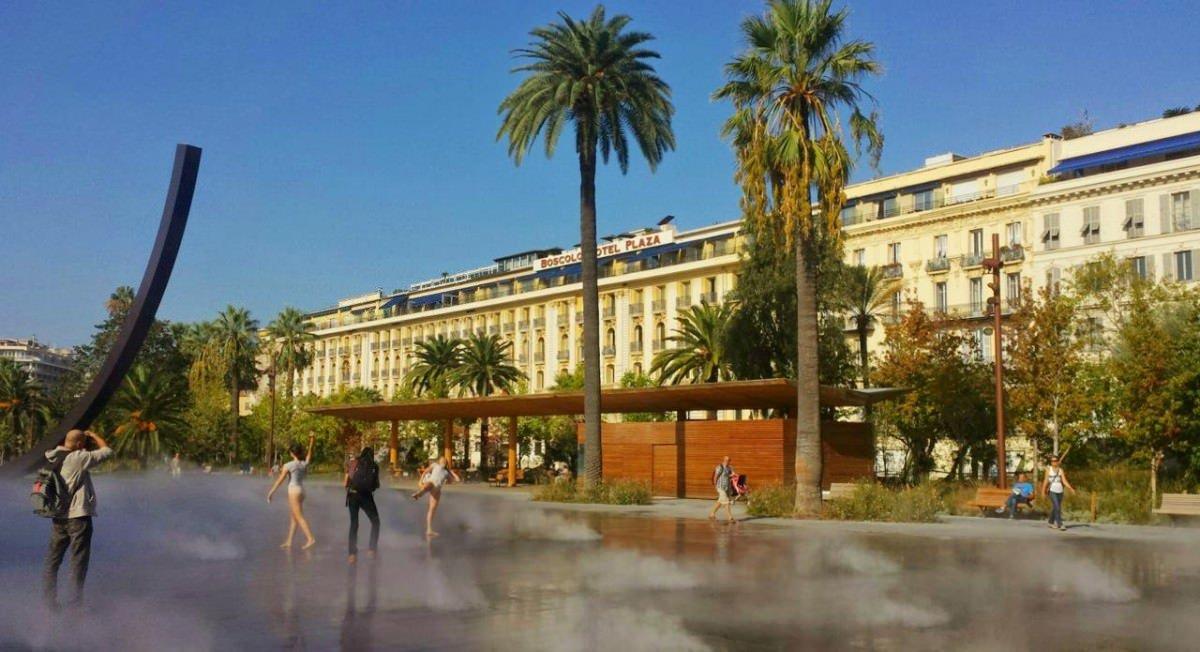 Fontanna parowa w Nicei