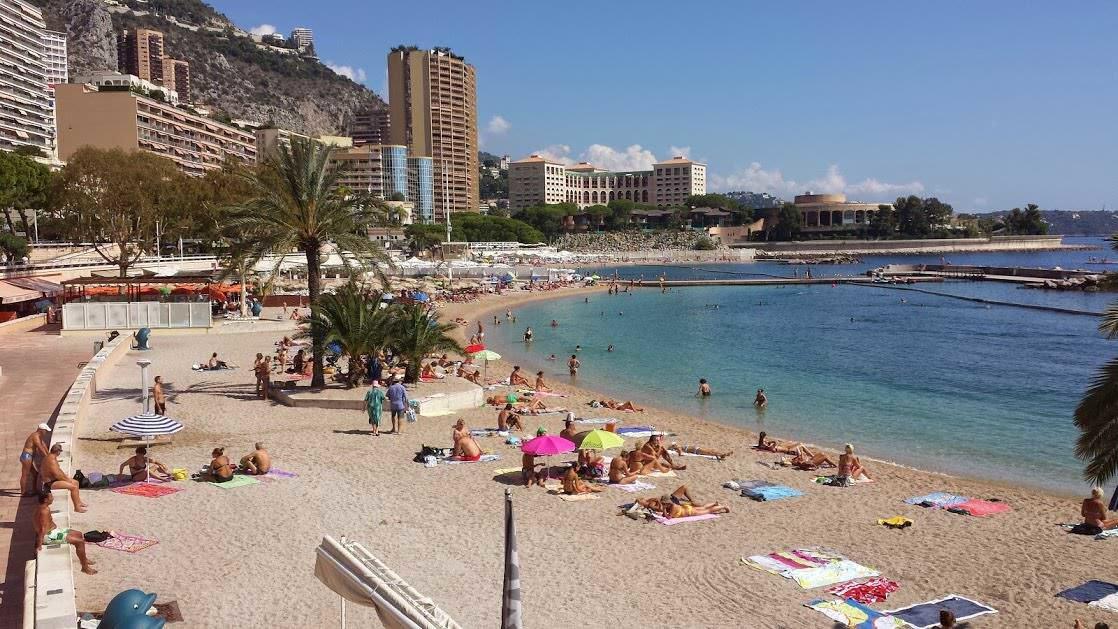 Plaża w Monte Carlo, dzielnicy Monako