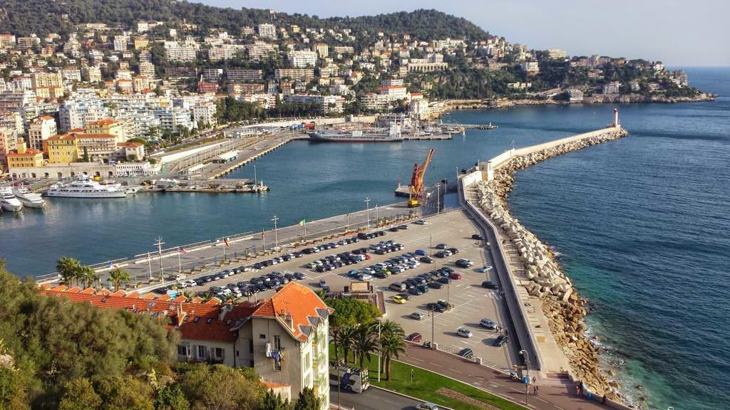 Wejście do portu w Nicei