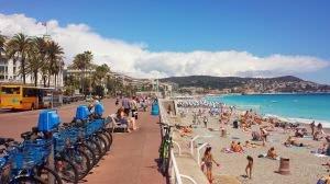 Promenada Anglików i plaża w Nicei