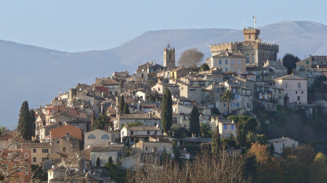 Haut-de-Cagnes, Stare Miasto w Cagnes-sur-Mer z zamkiem Grimaldi na szczycie