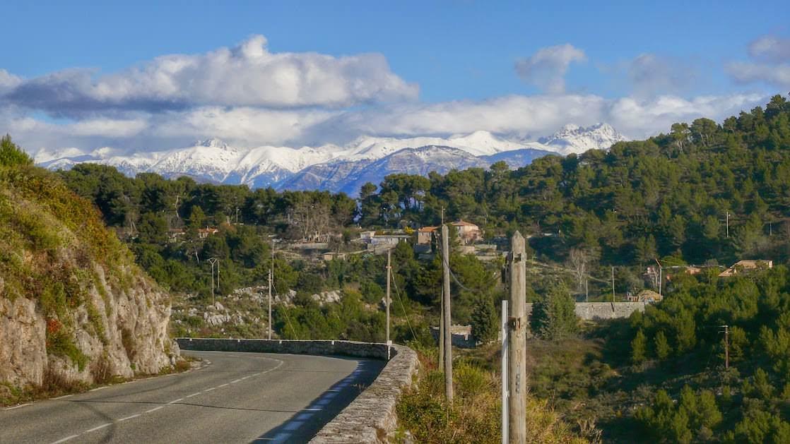 Widok na Alpy z la Grande Corniche
