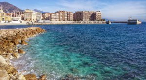 Koniec trasy brzegiem Cap-d'Ail, tuż przy granicy Francji i Monaco