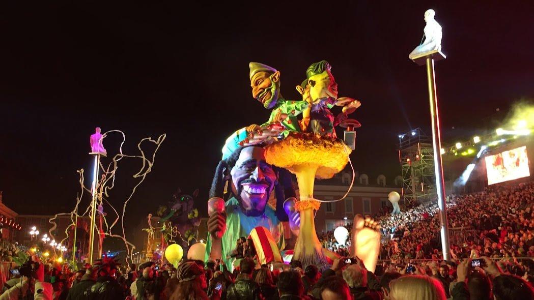 Parada Światła podczas Karnawału w Nicei