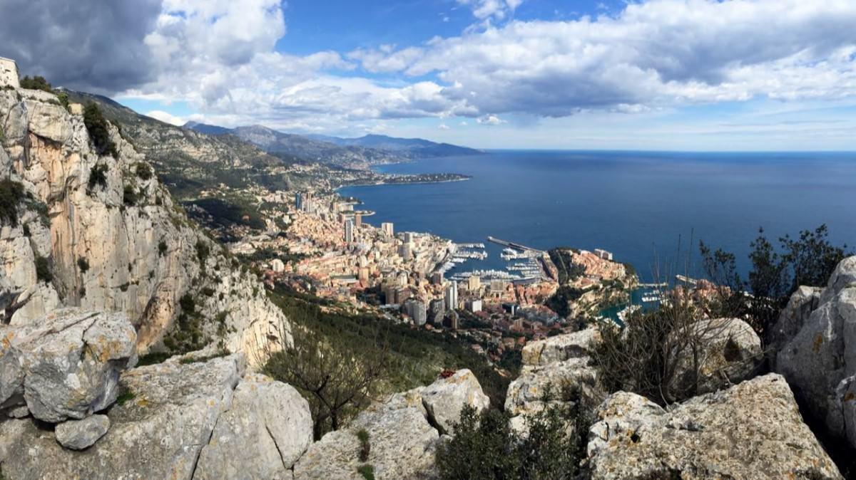 Panorama Monaco z Tete de Chien