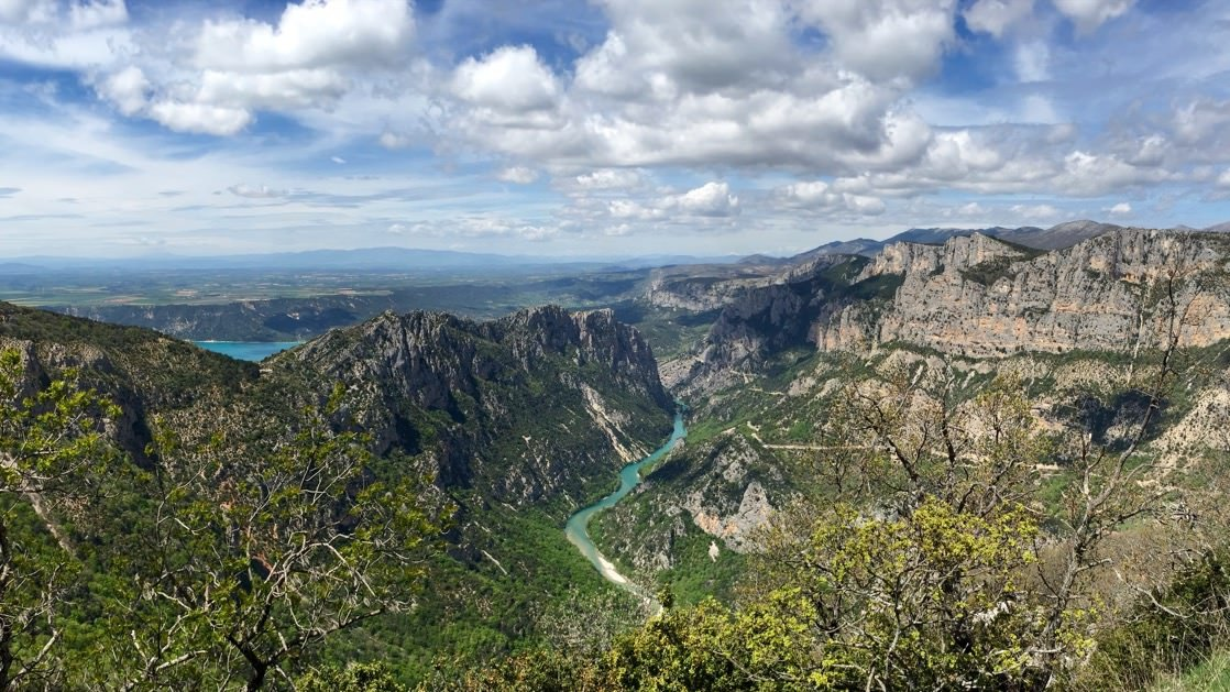 Panorama z widokiem na kanion Verdon