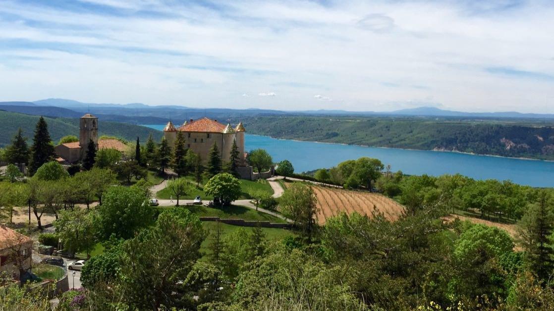 Widok na Lac (jezioro) de Sainte-Croix