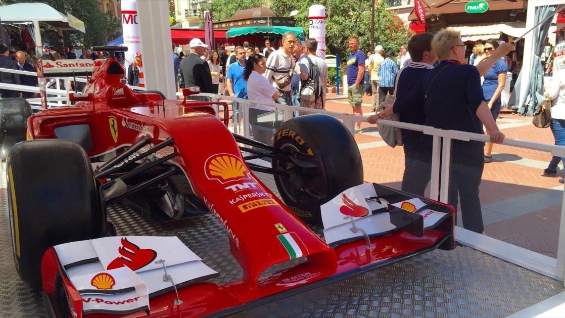 Jedna z atrakcji związanych z Formułą 1 w Monako Monte Carlo