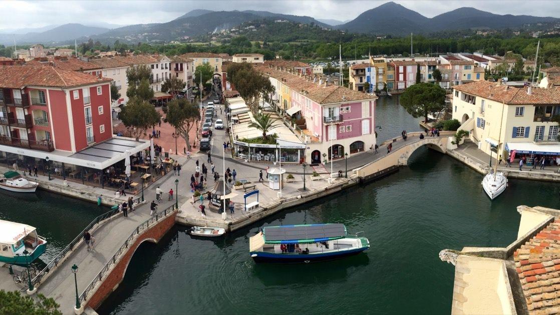 Port Grimaud, panorama z wieży widokowej
