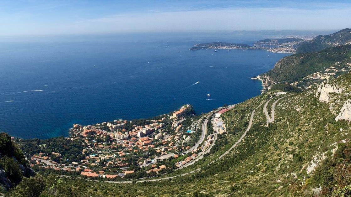 Widok w stronę Nicei z Tete de Chien