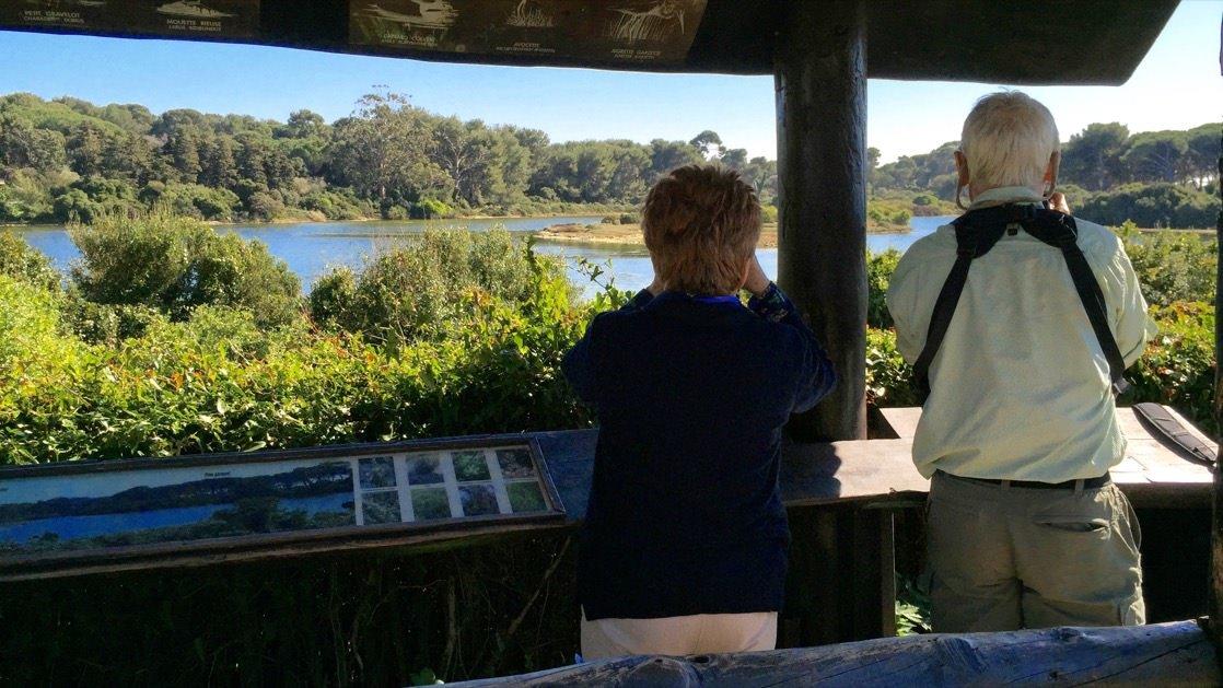 Punkt obserwacji dzikiego ptactwa w rezerwacie na terenie Wyspy św. Małgorzaty