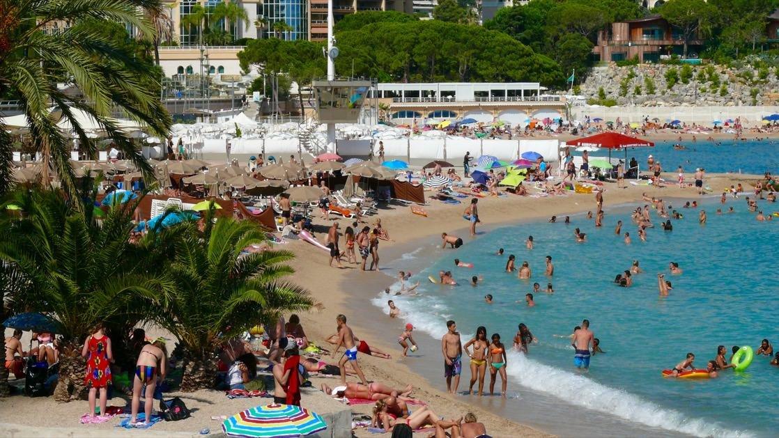 Plaża Larvotto w Monako Monte Carlo