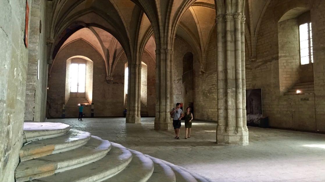 Wnętrza Pałacu Papieskiego w Awinion: Sala Audiencyjna