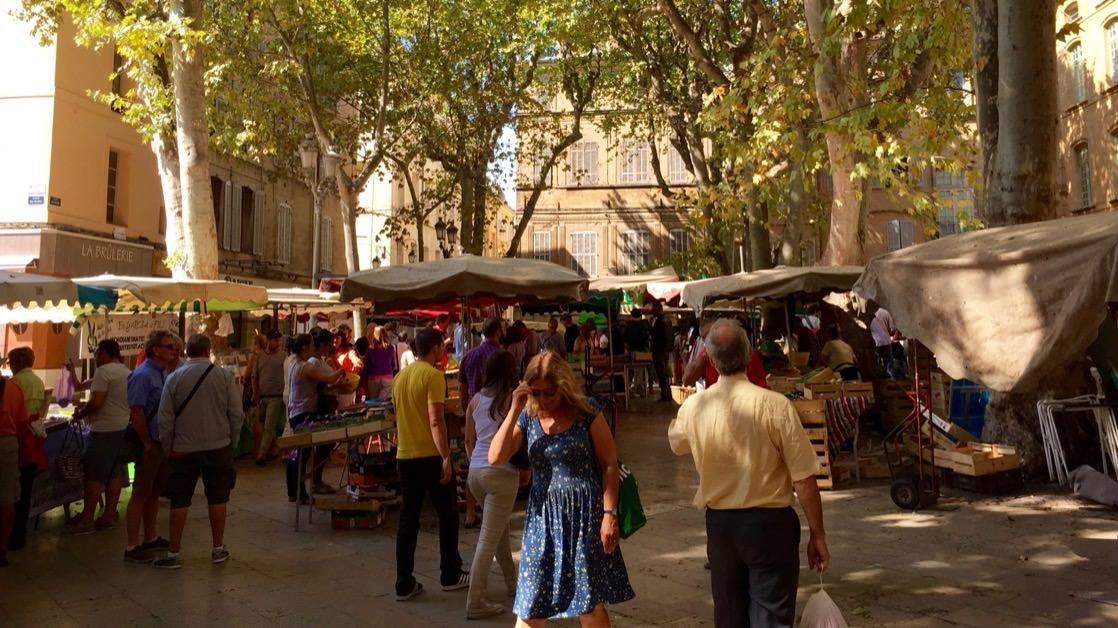 Targ prowansalski w Aix-en-Provence