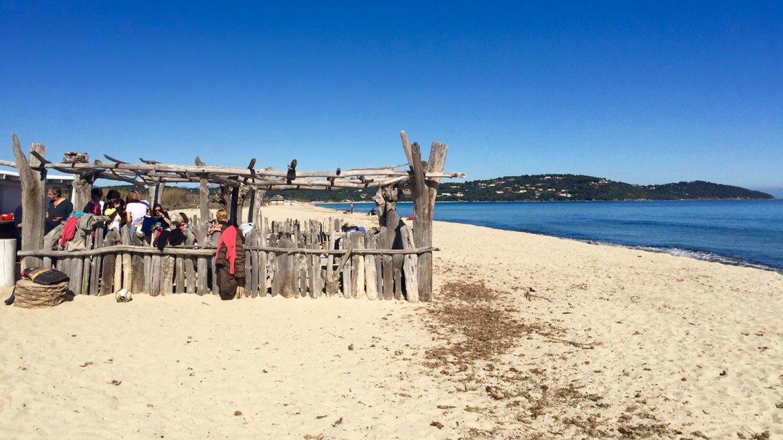 Plaża Pampelonne niedaleko Saint-Tropez