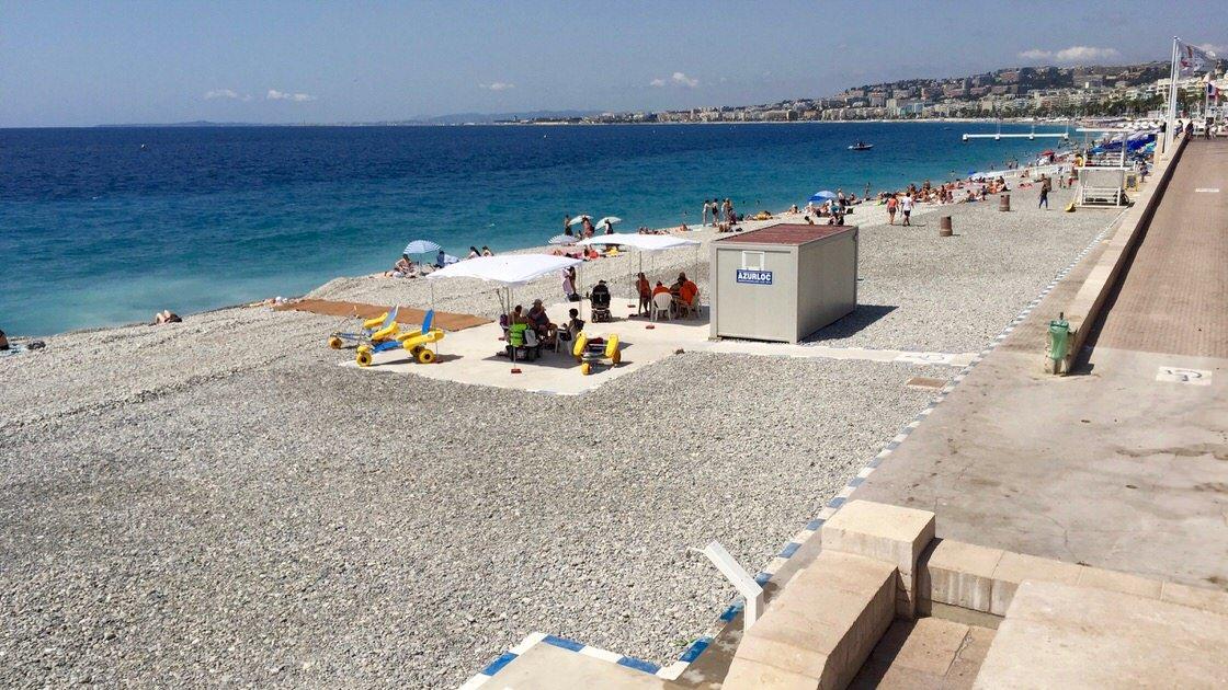 Plaża dla osób niepełnosprawnych w Nicei, Lazurowe Wybrzeże