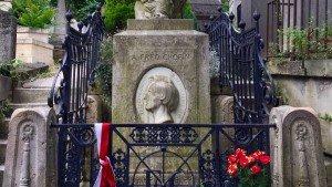Cmentarz Père-Lachaise w Paryżu, grób Fryderyka Chopina