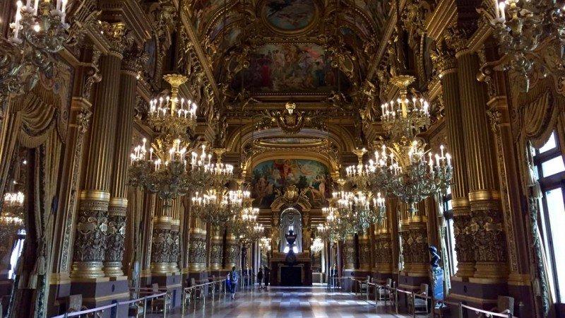 Opera Garnier w Paryżu (foyer)