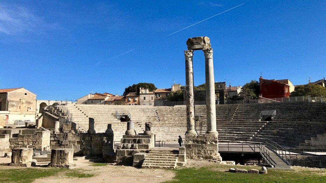 Ruiny amfiteatru w Arles