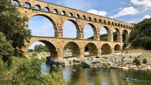 Pont du Gard, rzymski akwedukt w Prowansji