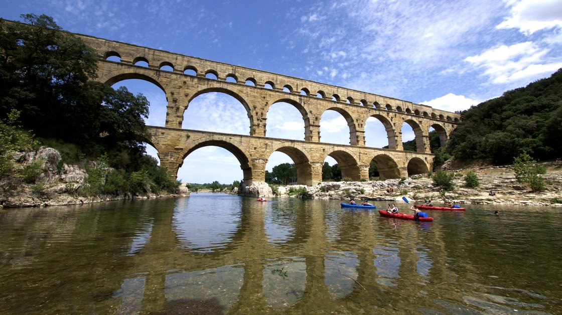 Akwedukt Pont du Gard, Prowansja, Francja