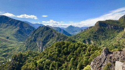 Widok ze szczytu nad Gilette w stronę północną