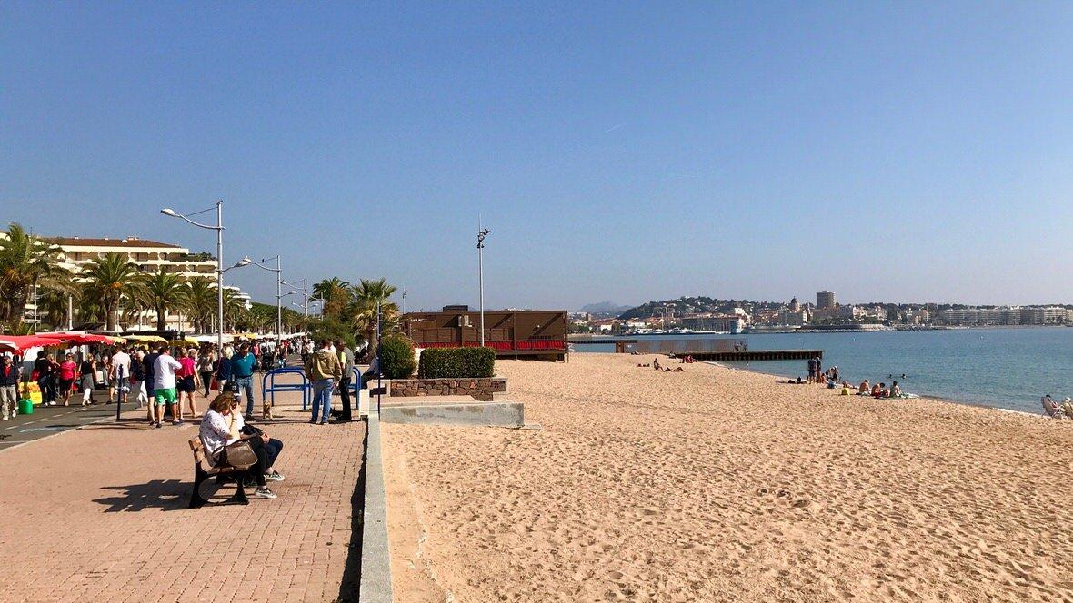 Plaża we Frejus, Lazurowe Wybrzeże