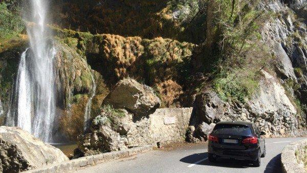 Wodospad w kanionie Loup niedaleko Nicei