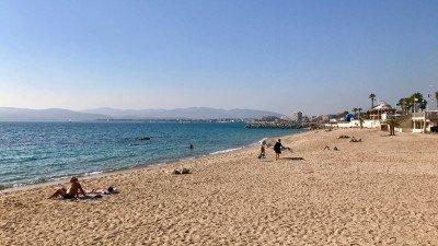 Plaża w Saint-Raphael, Lazurowe Wybrzeże