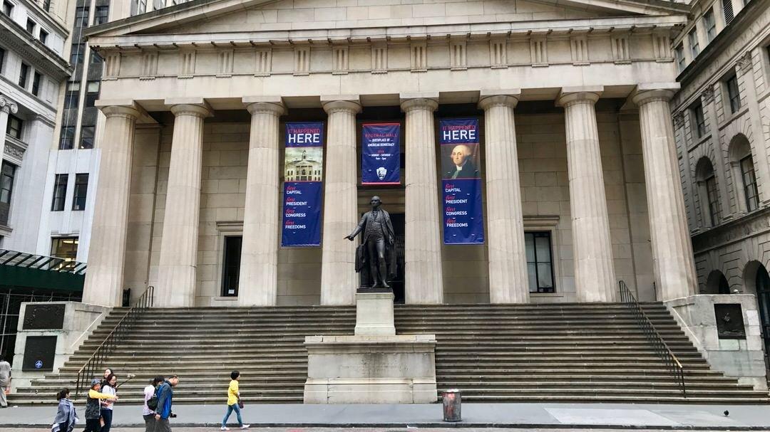 Federal Hall przy Wall Steet, Nowy Jork