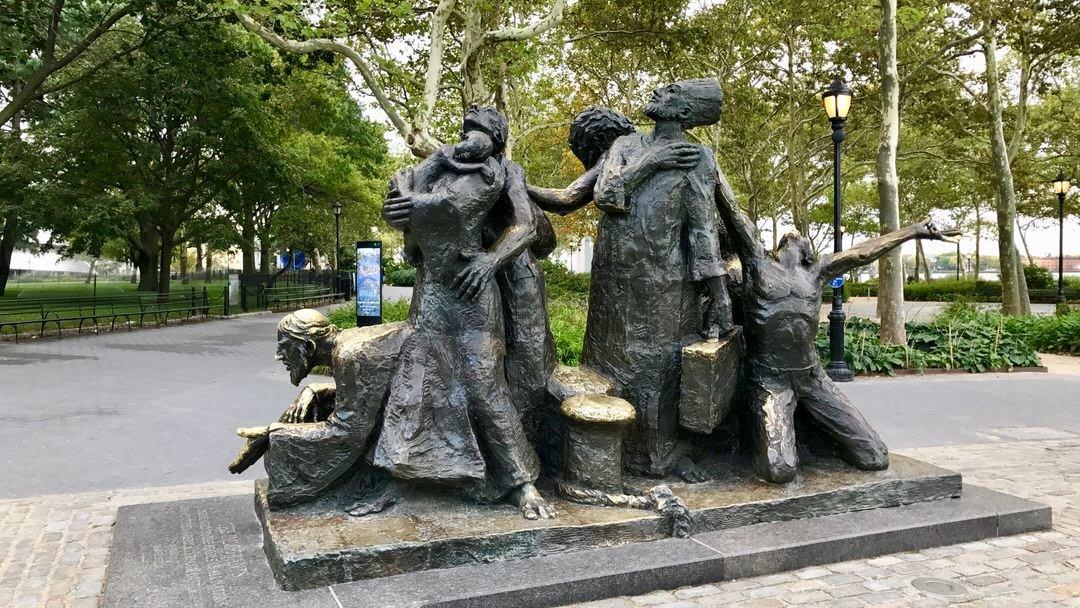 Pomnik Imigranci w Battery Park, Nowy Jork