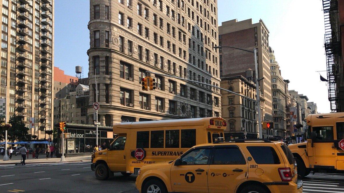 Flatiron Building na Manhattanie, Nowy Jork
