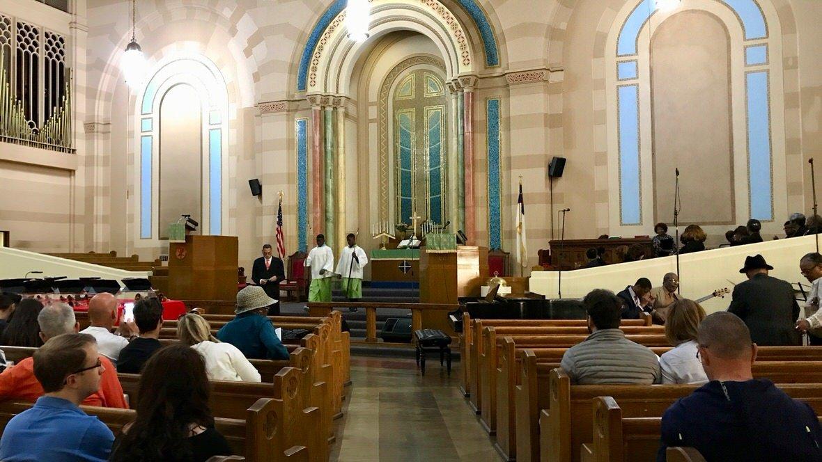 Kościół z muzyką Gospel na Harlemie