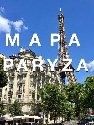 Mapa Paryża