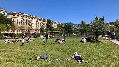 Park w centrum Nicei