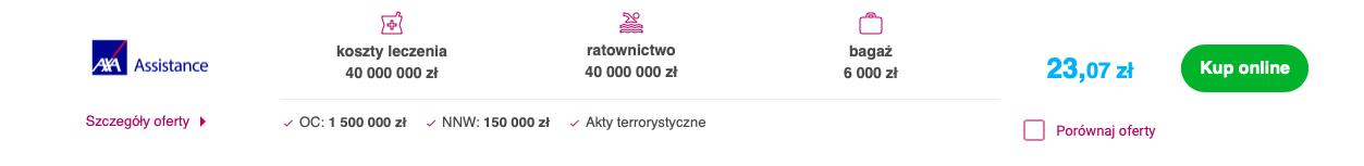 Ubezpieczenie do USA oferujące jeden z najwyższych limitów kosztów leczenia dostępnych na polskim rynku.