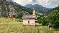 Allos, alpejska wioska we Francji niedaleko Nicei (Lazurowe Wybrzeże)