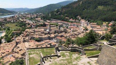 Widok z cytadeli na Sisteron (Prowansja)