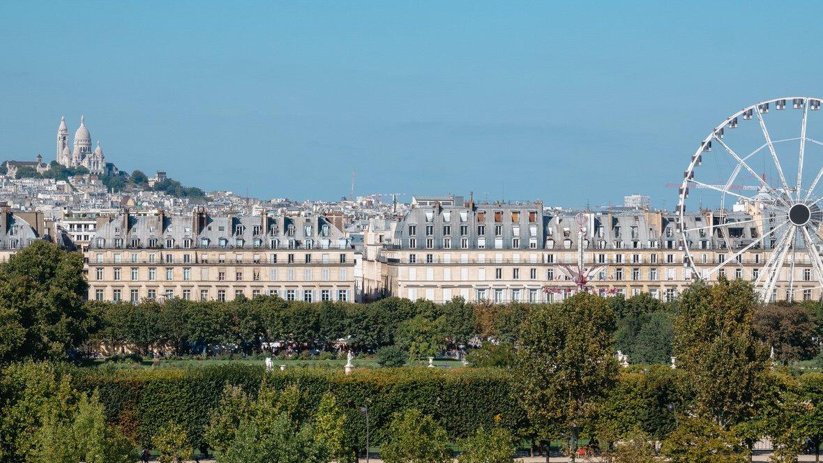 Bazylika Sacre Coeur w Paryżu, widok z Muzeum Orsay