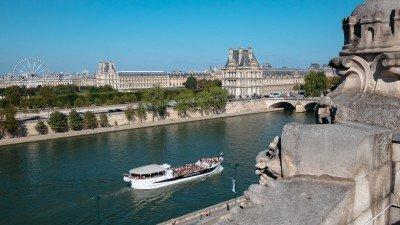 Widok z tarasu widokowego w Muzeum Orsay w Paryżu