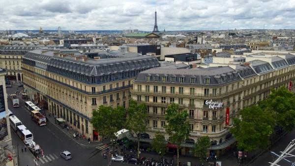 Panorama Paryża z galerii Lafayette