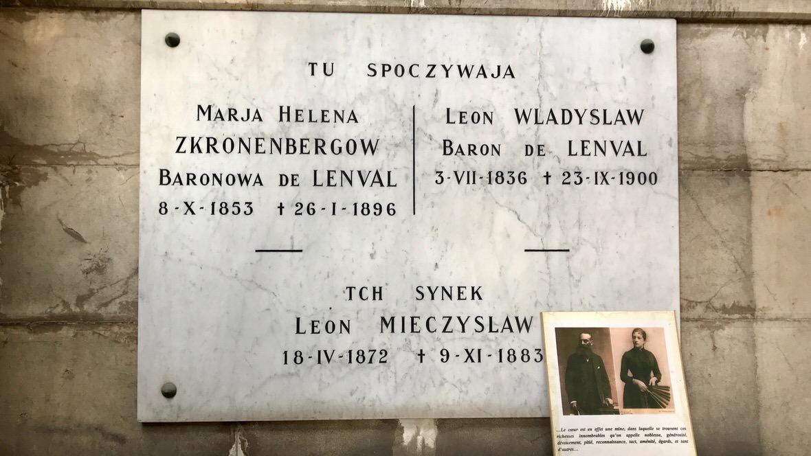 Tablica na grobowcu rodziny Lenval w Nicei, Wzgórze Zamkowe.