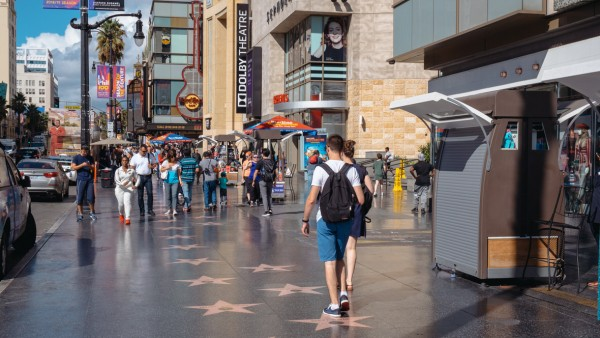 Walk of Fame w Hollywood, Los Angeles, Kalifornia