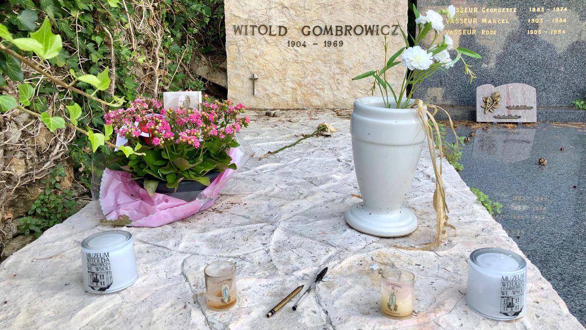 Grób Witolda Gombrowicza na cmentarzu komunalnym w Vence, Lazurowe Wybrzeże