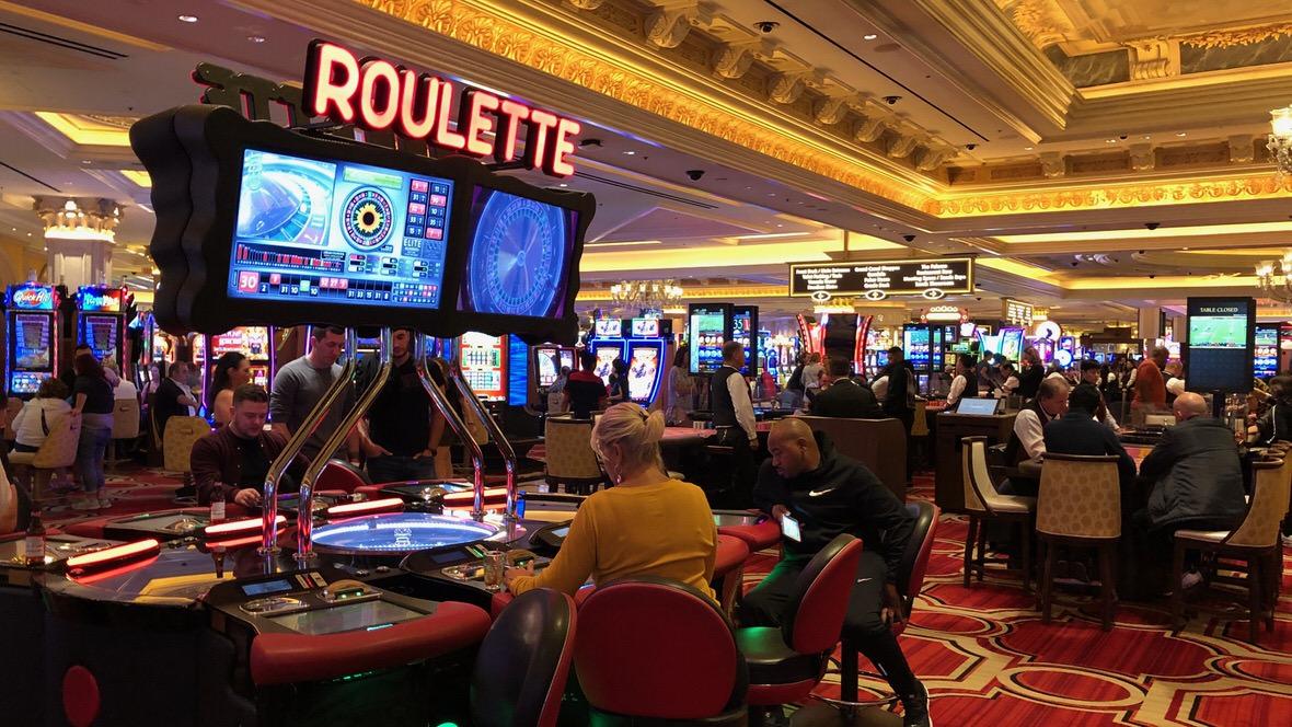 Kasyno w jednym z hoteli w Las Vegas