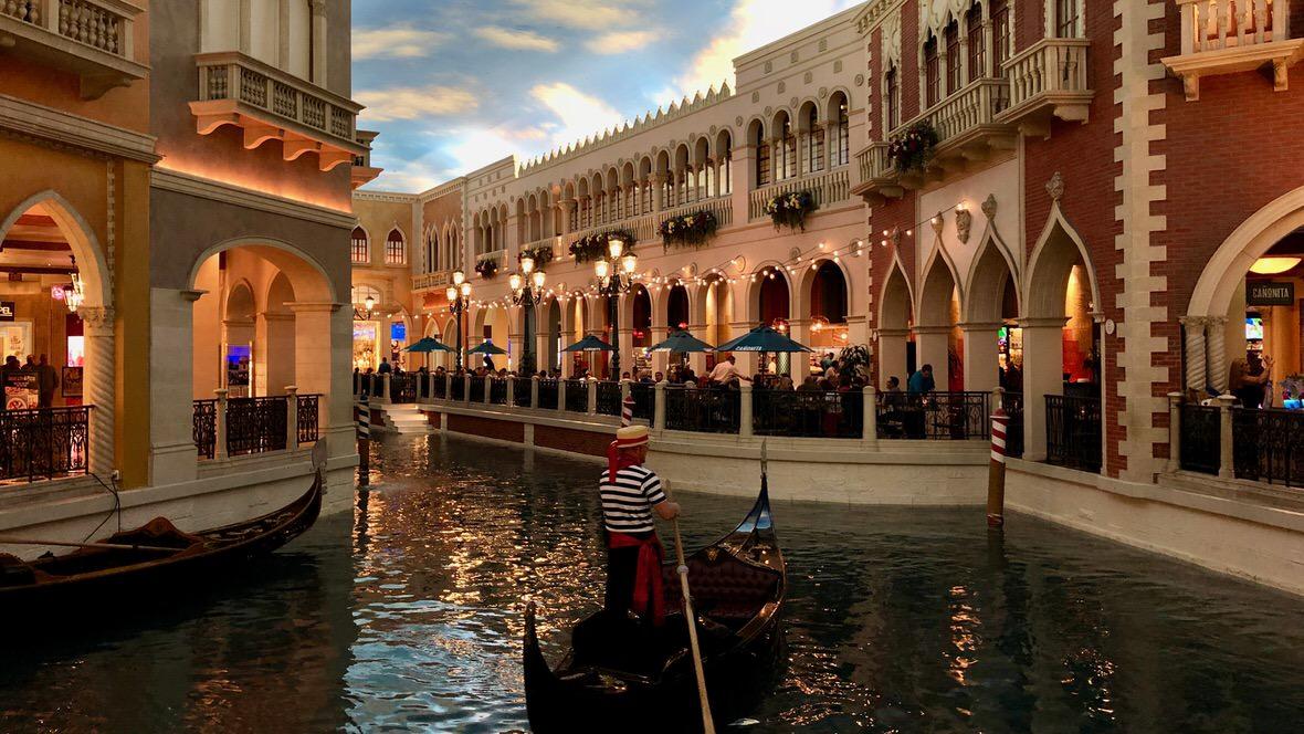 Wenecja odtworzona w jednym z hoteli w Vegas
