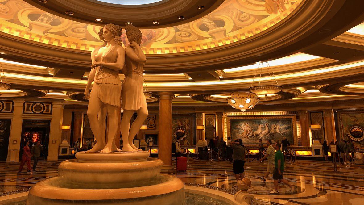 Recepcja hotelu Caesars Palace w Las Vegas