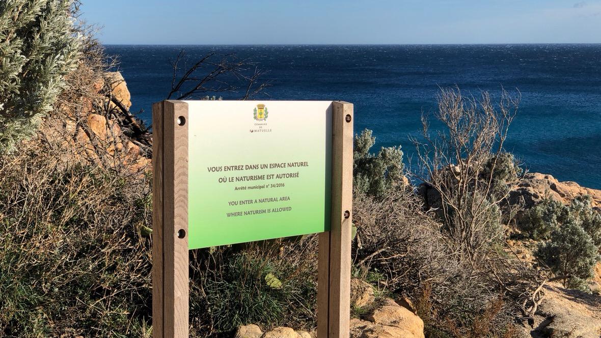 Okolica Cap Taillat jest dostępna dla naturystów
